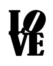 Napis dekoracyjny na ścianę LOVE - 1 - DekoSign