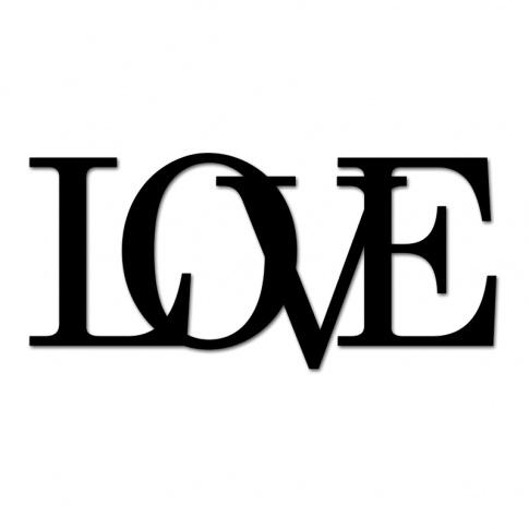 Fotografia, na której jest Napis dekoracyjny na ścianę LOVE -2 - DekoSign