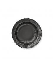 Talerz porcelanowy czarny - GŁĘBOKI - 4 szt - Lyngby
