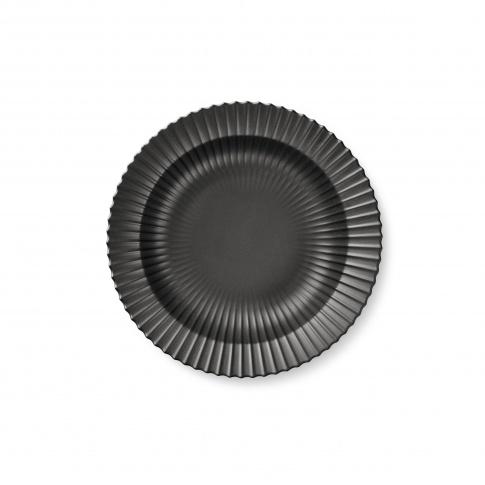 Fotografia, na której jest Talerz porcelanowy czarny - GŁĘBOKI - 4 szt - Lyngby