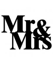 Napis dekoracyjny na ścianę MR&MRS - DekoSign