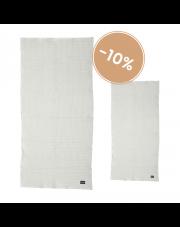 Komplet dwóch organicznych ręczników - jasny szary - ferm LIVING