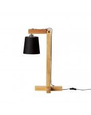 Lampa drewniana z czarnym kloszem - Bloomingville
