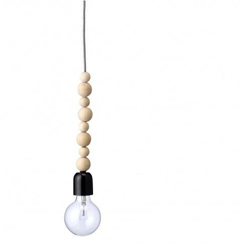 Fotografia, na której jest Lampa z drewnianymi kulkami - Bloomingville