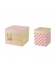 Zestaw dwóch pudełek w czerwone kropki - Bloomingville