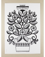 Plakat A3 Folklore Flower Lily