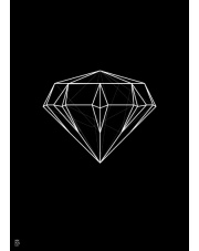 Plakat Diament linearny czarny - Kinkallo