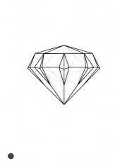 Plakat Diament linearny - Kinkallo