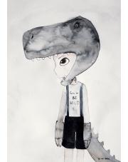 Plakat Tyranosaurus - To The Moon