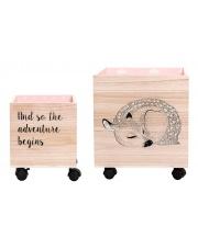 Komplet dwóch pudełek na zabawki - różowy - Bloomingville
