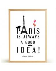 Plakat PARIS IS ALWAYS A GOOD IDEA - FOX ART STUDIO