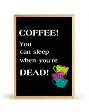 Plakat COFFEE SLEEP - FOX ART STUDIO