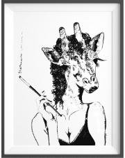 Plakat Tancerka Saana - kreska