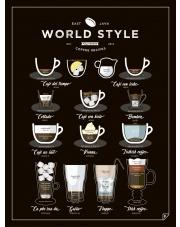 Plakat WORLD STYLE COFFEE - Follygraph