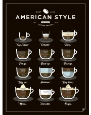 Plakat AMERICAN STYLE COFFEE - Follygraph
