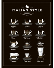 Plakat ITALIAN STYLE COFFEE - Follygraph