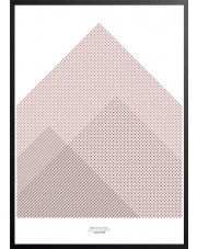Plakat MOUNTAINS różowy - 50x70 cm - IHANNA HOME