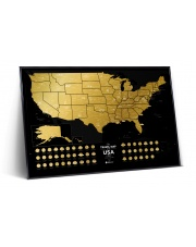 Mapa Zdrapka - Mapa USA - Travel Map™ USA Black