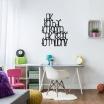 Fotografia, na której jest Napis dekoracyjny na ścianę JAK KOCHAĆ TO KSIĘCIA JAK KRAŚĆ TO MILIONY - DekoSign