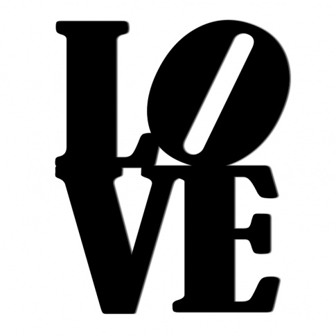 Fotografia, na której jest Napis dekoracyjny na ścianę LOVE - 1 - DekoSign