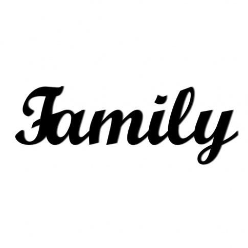 Fotografia, na której jest Napis dekoracyjny na ścianę FAMILY - DekoSign