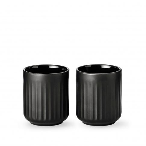 Fotografia, na której jest Kubek termiczny 300 ml czarny - 2 szt - Lyngby