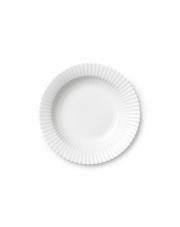 Talerz porcelanowy biały - GŁĘBOKI - 4 szt - Lyngby