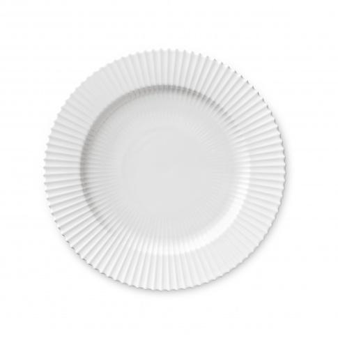 Fotografia, na której jest Talerz porcelanowy biały - DUŻY - 4 szt - Lyngby
