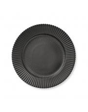Talerz porcelanowy czarny - DUŻY - 4 szt - Lyngby