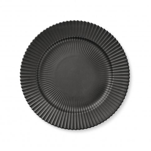 Fotografia, na której jest Talerz porcelanowy czarny - DUŻY - 4 szt - Lyngby