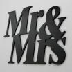 Fotografia, na której jest Napis dekoracyjny na ścianę MR&MRS - DekoSign