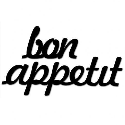 Fotografia, na której jest Napis dekoracyjny na ścianę BON APPETIT - DekoSign