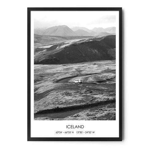 Fotografia, na której jest Plakat ICELAND TRIP - FOX ART STUDIO