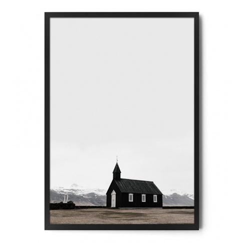 Fotografia, na której jest Plakat KOŚCIÓŁ / ISLANDIA - FOX ART STUDIO