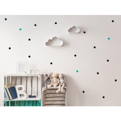 Fotografia, na której jest KROPKI MAŁE | naklejki do pokoju dziecięcego - Pastelowelove