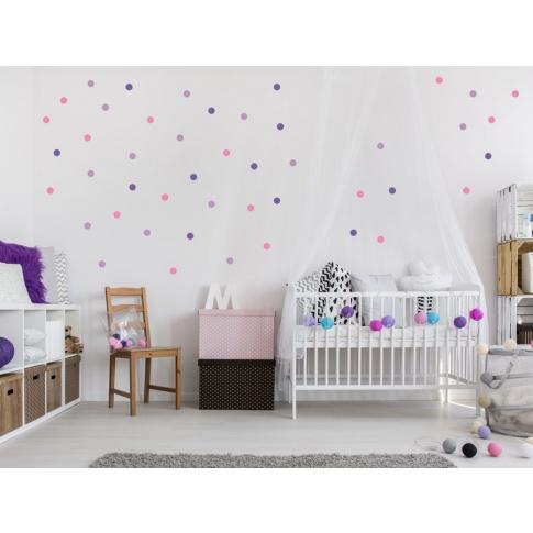 Fotografia, na której jest KONFETTI 1 | naklejki do pokoju dziecięcego - Pastelowelove
