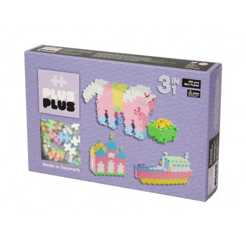 Fotografia, na której jest Klocki Plus Plus - Mini Pastel - 480 szt. | 3 w 1