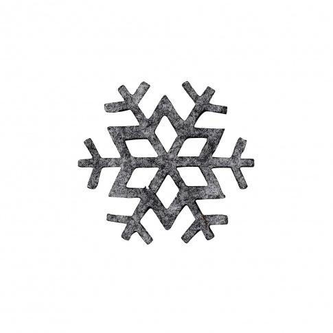 Fotografia, na której jest Śnieżynka z filcu Snowflake