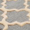Fotografia, na której jest Dywan wełniany MOROCCAN TRELLIS Grey - White Oaks