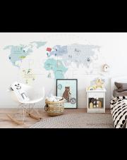 MAPA | naklejka do pokoju dziecięcego - różne kolory - Pastelowelove