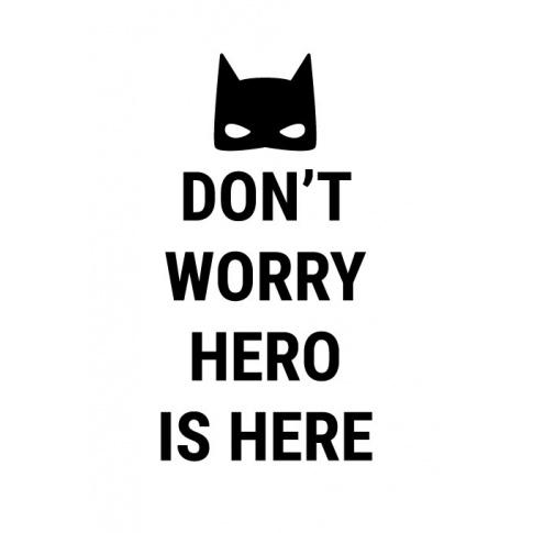 Fotografia, na której jest BATMAN | plakat do pokoju dziecięcego - Pastelowelove
