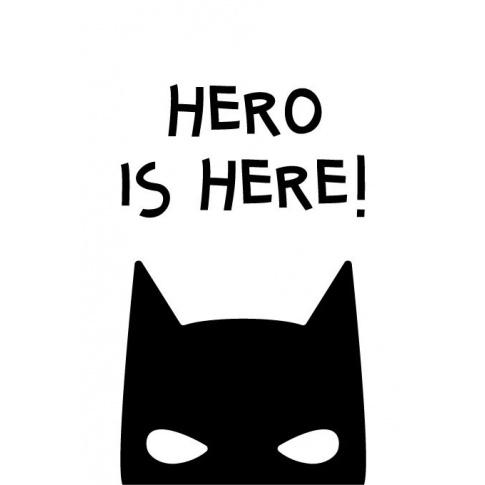 Fotografia, na której jest HERO | plakat do pokoju dziecięcego - Pastelowelove