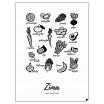 Fotografia, na której jest Zestaw plakatów 4 PORY ROKU | JEDZ SEZONOWO - PL EN - Follygraph