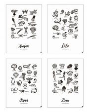 Zestaw plakatów 4 PORY ROKU | JEDZ SEZONOWO - PL EN - Follygraph