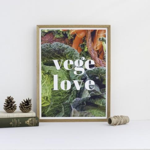 Fotografia, na której jest Plakat VEGE LOVE - Follygraph