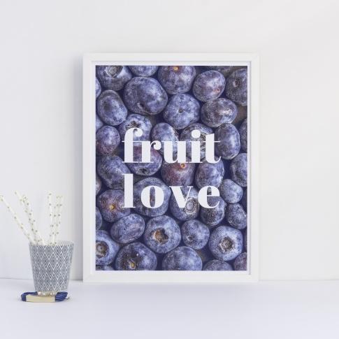 Fotografia, na której jest Plakat FRUIT LOVE - Follygraph