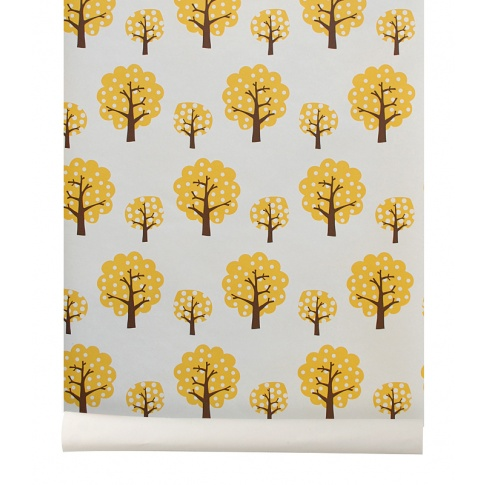 Fotografia, na której jest Tapeta drzewa Yellow Trees