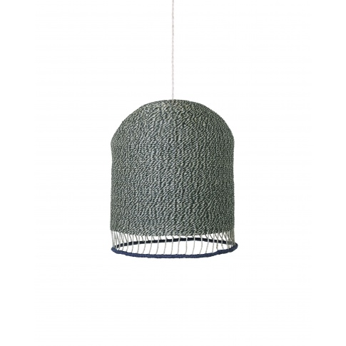 Fotografia, na której jest KOMPLET | Lampa pleciona BRAIDED LAMPSHADE - wysoka