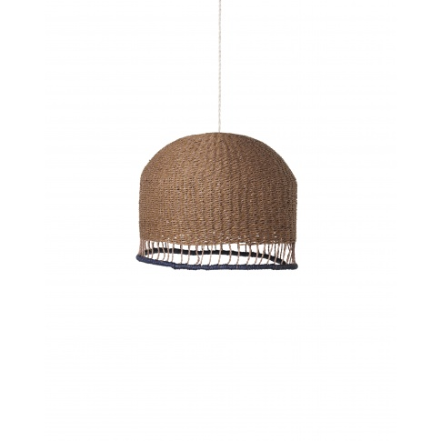 Fotografia, na której jest KOMPLET | Lampa pleciona BRAIDED LAMPSHADE - niska