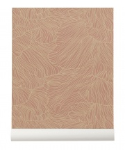 Tapeta skandynawska CORAL Dusty Rose/Beige - ferm LIVING
